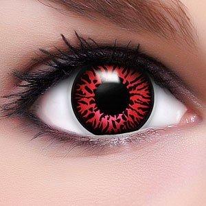 Farbige Crazy Fun Kontaktlinsen 'Dämon' lenses Topqualität zu Halloween