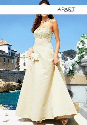 Hochzeits-Corsagenkleid, champagner