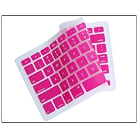 "Silicone Keyboard Cover for MacBook apple mac 13""-15"" Pink"