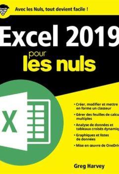 Livres Couvertures de Excel 2019 pour les Nuls