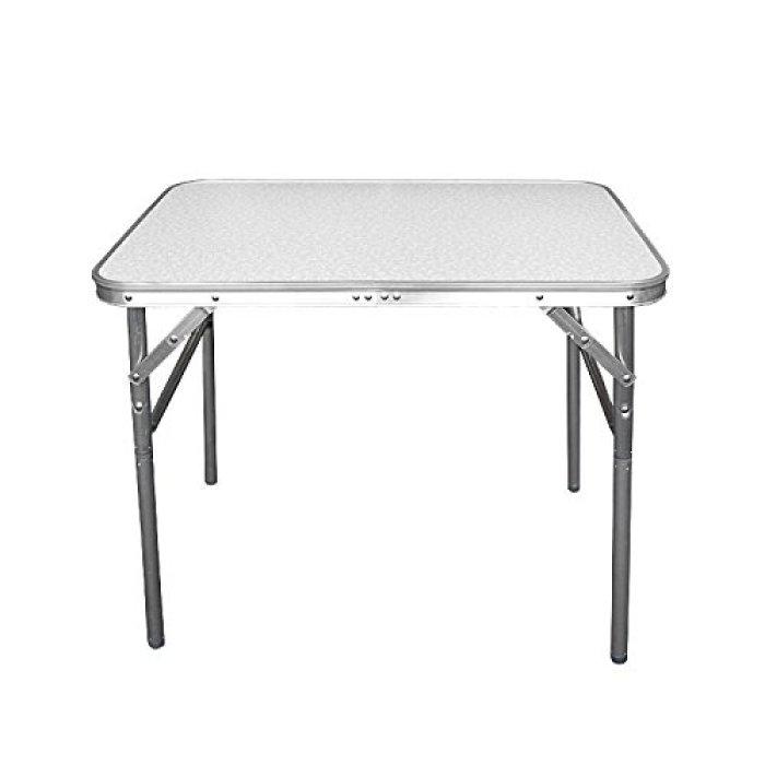 Aluminium Klapptisch Campingtisch 75x55cm Gartentisch Beistelltisch Falttisch Picknicktisch Alutisch faltbar und höhenverstellbar von CAMP ACTIVE