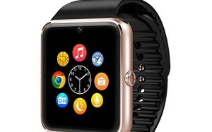 Evershop Bluetooth Android Smart Watch with SIM Card Slot Smartwatch for Android Smartphones(Gold)