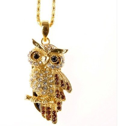 Newdigi® High Quality 8 Gb/16gb Owl Crystal Jewelry USB Flash Memory Drive Necklace+gift Box