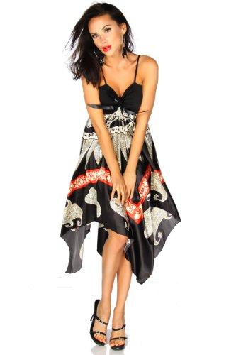 Langes Kleid SATINNA