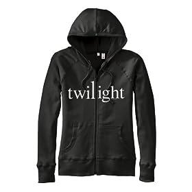 Twilight Glow in the Dark Printed Womens Cut Hooded Sweatshirt