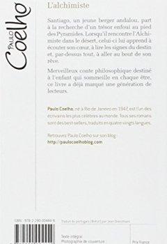Livres Couvertures de L'Alchimiste - Grand prix des Lectrices de Elle 1995