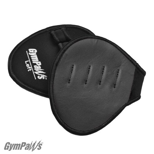 GymPaws Workout Grips | Leather Lifting Grips | Wrap Alternative (Black)