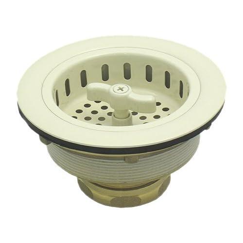 Almond Kitchen Sink Drain Locking Basket Strainer Stopper