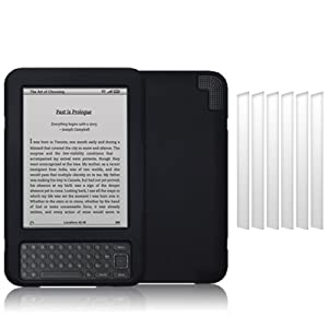 AMAZON KINDLE 3 SOFT SILICONE SKIN CASE BLACK