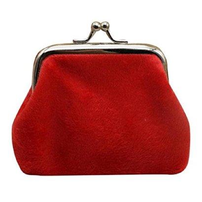 Kingfansion-Womens-Corduroy-Small-Wallet-Holder-Coin-Purse-Clutch-Handbag-Bag-Red