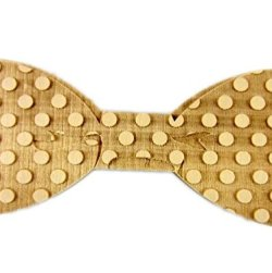 Hello Tie Men's Wooden Bowtie- Original Wood Color Bow Tie