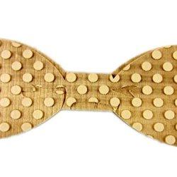 Hello Tie Men's Wooden Bowtie- Original Wood Color Bow Tie