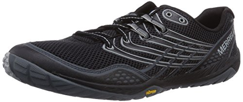 Merrell Men's Trail Glove 3 Trail Running Shoe, Black/Light Grey, 11.5 M US
