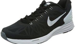 Nike Men's Lunarglide 6 Black/White/Pr Platinum/Cl Gry Running Shoe 11.5 Men US