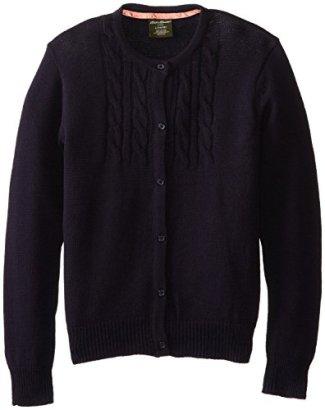 Eddie-Bauer-Big-Girls-Crew-Neck-Button-Front-Cardigan-Sweater-Navy1416
