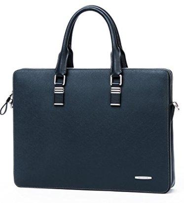 Bostanten-Leather-Lawyers-Briefcase-Handbags-Shoulder-Laptop-Business-Bag-for-Men-Blue-Cross