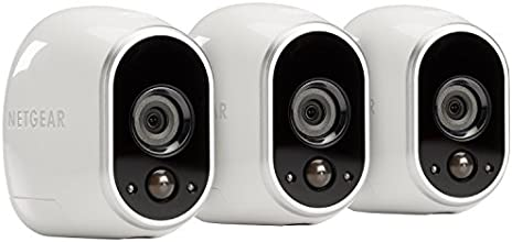 Arlo Smart Security - 3 HD Camera Security System, 100% Wire-Free, Indoor/Outdoor with Night Vision (VMS3330)