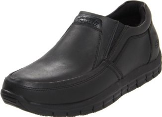 Skechers for Work Men's Solace Work Shoe,Black,9.5 M US