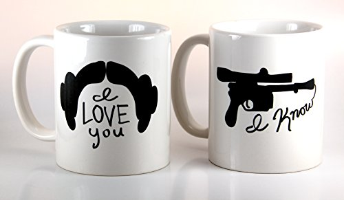 I Love You / I Know Couples Mug Set 11oz Ceramic Coffee Mugs