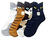 JJMax Women's Sweet Animal Socks Set with Thick Eared Cuffs One Size Fits All