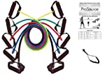 ProSource 48-Inch Premium Latex Resistance Exercise Band Set (Set of Five)