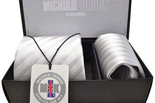 (ミチコロンドン)MICHIKO LONDON 礼装ネクタイ ポケットチーフ ギフトBOXセット CPN-176