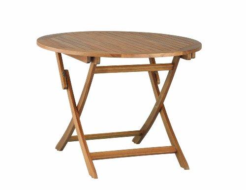 Kettler Advantage H0083-000 Edmonton Tisch ø 107 x 72.5 cm, Akazie, geölt