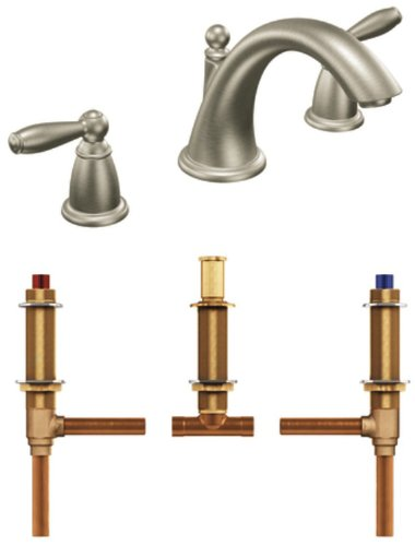 8 f3cheap amazing sale moen t4943bn 4792 brantford two handle low arc roman tub faucet with valve brushed nickel all view compare