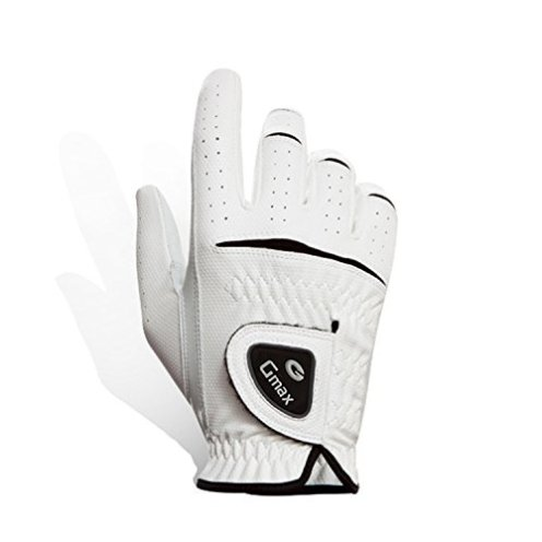 Gmax Men's Golf Glove Left or Right Hand Cabretta Synthetic Leather (X-Small, Right Hand)