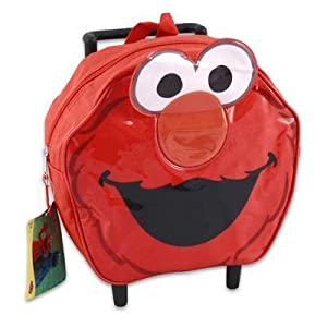 Sesame Street Elmo Head Shaped Mini Roller Backpack