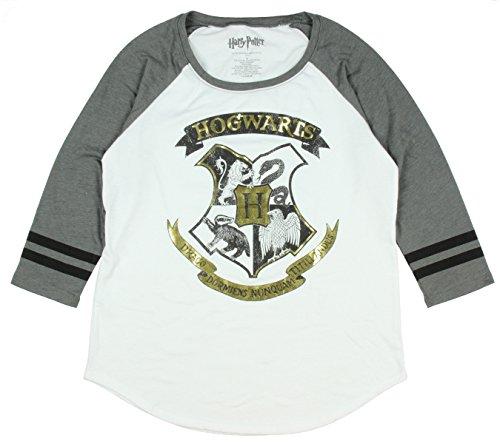 Harry Potter Hogwarts Gold Girls Raglan 2XL Size : XX-Large