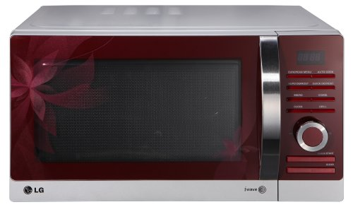 LG MH 6883 AAF Mikrowelle (28 L, 900 W, Auftaufunktion, Grillfunktion) rot/silber