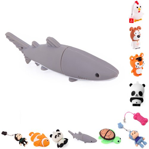 Novelty Animal Shaped USB Flash Drive (8GB, Great White Shark)
