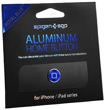 【国内正規品】 SPIGEN SGP アルミニウム ホームボタン 日本限定モデル [ロイヤル・ブルー] for iPhone & iPad SGP10554