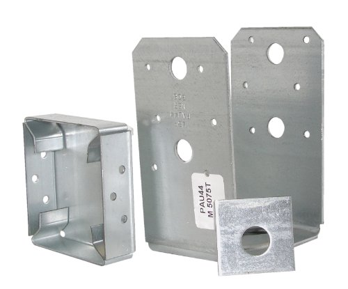 USP Structural Connectors PAU44-TZ G185-Triple Zinc Galvanized Post Base, 4 by 4