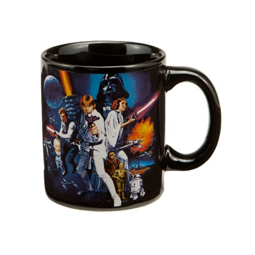 Star Wars A New Hope 12 oz Ceramic Mug, Black