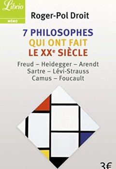 Livres Couvertures de 7 philosophes qui ont fait le XXe siècle