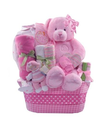 Baby-Boutique-Little-Princess-Baby-Girls-New-Baby-Gift-Basket-Pink