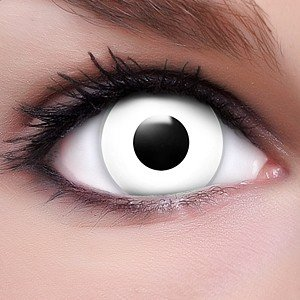 Farbige Kontaktlinsen Crazy Color Fun Contact Lenses 'White Zombie' Topqualität