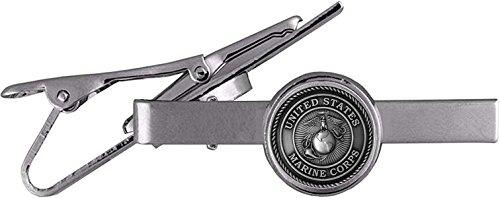 USMC Marine Corps Neck Tie Bar Clasp Clip with EGA Insignia Emblem