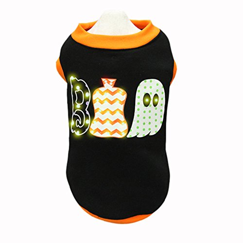 Royal Wise Cool Magic Ghosts Pet Dog LED Light up Hoodie Coat Clothes (XS)