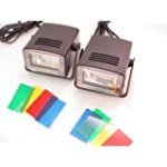 LOT 2: MINI DISCO STROBE LIGHTS Flashing Stage Gear NEW for $18.99 + Shipping