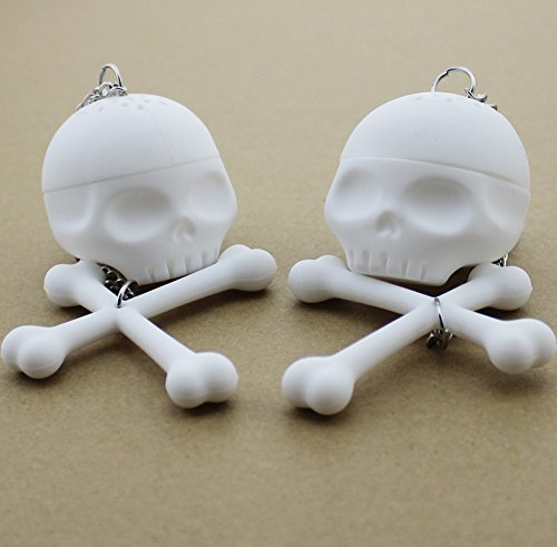 Zicome® Set of 2 Loose Tea Skull Bones Infuser Strainer