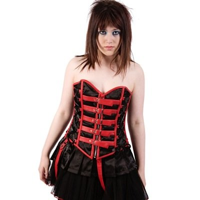 Poizen Industries Korsage CHOR CORSET black/red