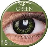 Farbige Kontaktlinsen & Color Contact lenses Dunkelgrün / Grün / Green 1 Paar (2 Stück) incl. 60ml Pflegemittel und Behälter!