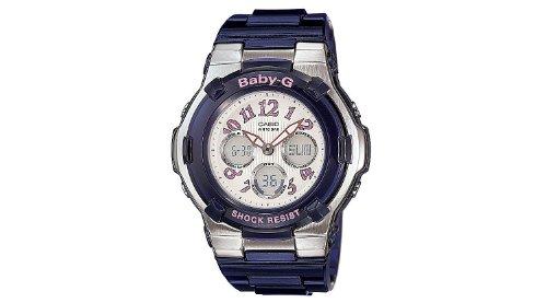 32d949a08e20 Casio Women s BGA114-2BCR Baby-G Shock Resist White Metallic Dial Watch