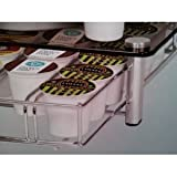 Keurig K CUP Coffee POD Glass & Chrome Holder Drawer Storage Organizer Holds 35 Kcups