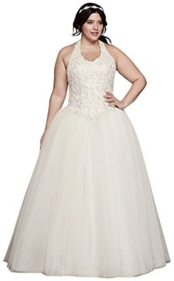 Tulle-Basque-Waist-Plus-Size-Ball-Gown-Wedding-Dress-Wedding-Dress-Style-9OP1271