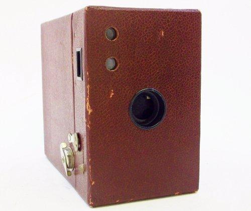 Vintage Kodak Rainbow Hawkeye 2A Model B Maroon Box Camera