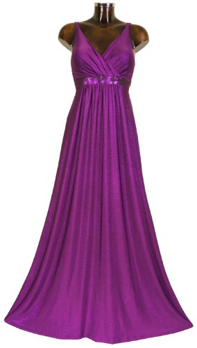 Monty Q Elegantes Maxikleid Party - Abendkleid Lang Empire E3 in Groesse 38 - 58